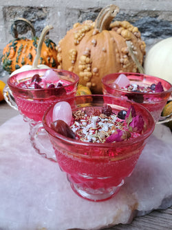 Deadly Attraction Spell Candle - Vintage Tea Cup