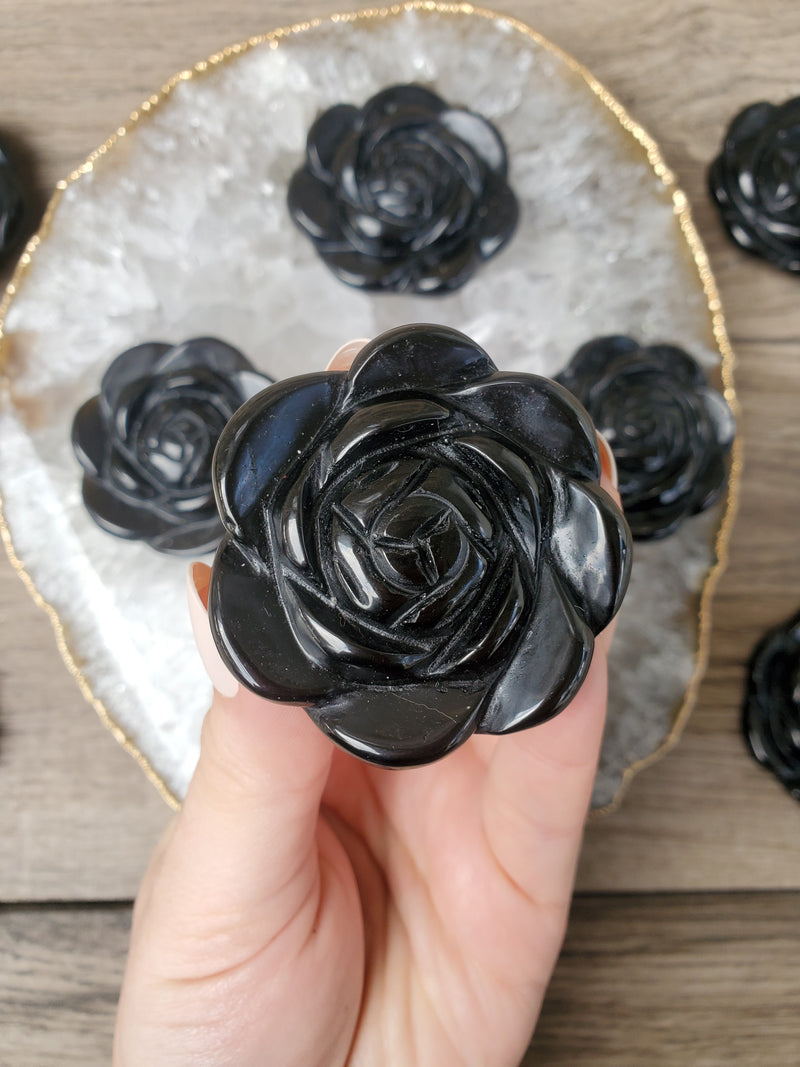 Black Obsidian Rose