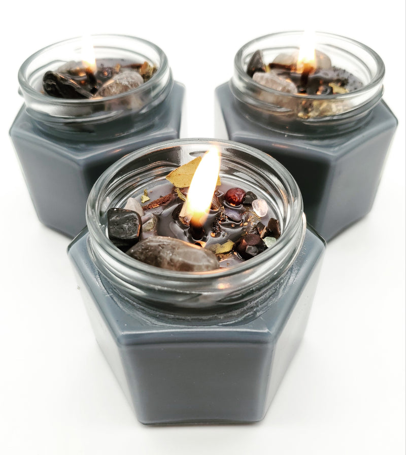 Protection Spell Candle - Hexagon