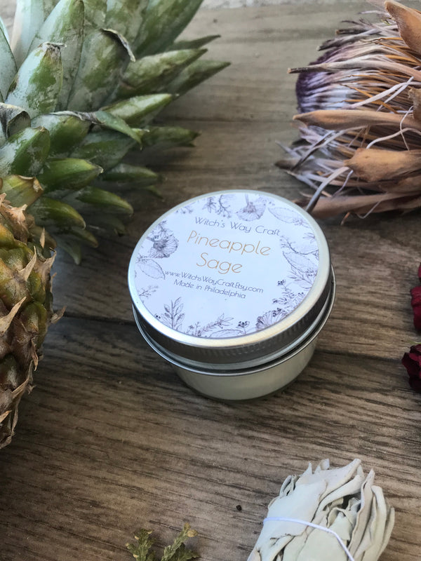 Pineapple Sage -  Scented Soy Candle