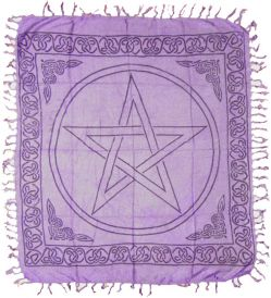 Purple Pentagram Altar Cloth