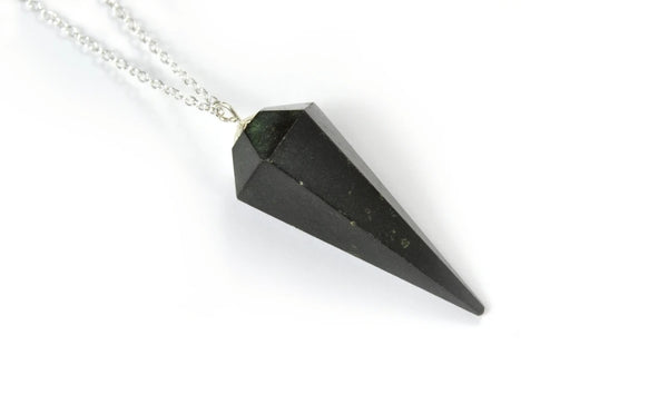 Black Onyx Pendulum Necklace