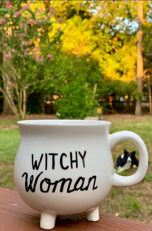 Witchy Sayings - Stoneware Cauldron Mug 4 Styles