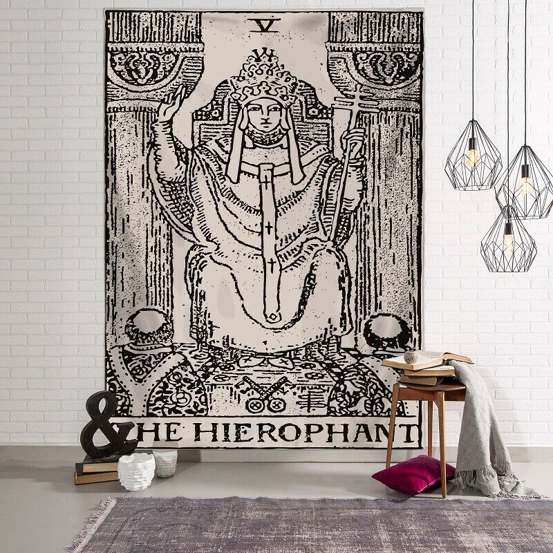 Tarot - The Hierophant Tapestry / Altar Cloth