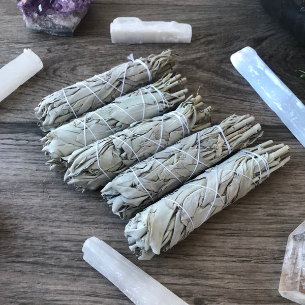 California White Sage Bundle 4 inch Smudge Stick