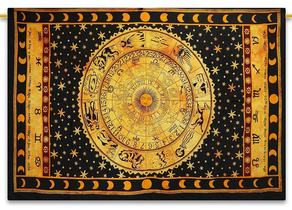 Zodiac Astrology Tapestry Altar Cloth