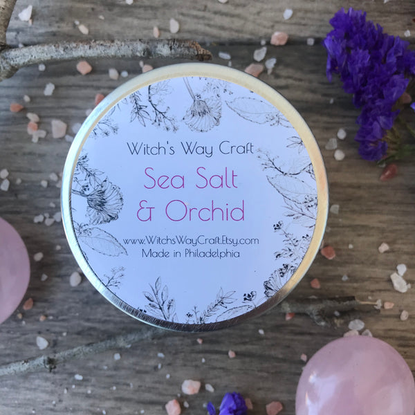 Sea Salt & Orchid -  Scented Soy Candle