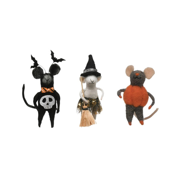 Wool Felt Mouse in Costume - PICK YOUR OWN - 3 Styles