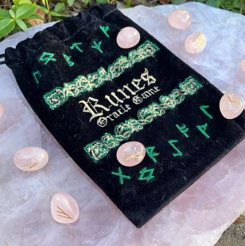 Rose Quartz Rune Set