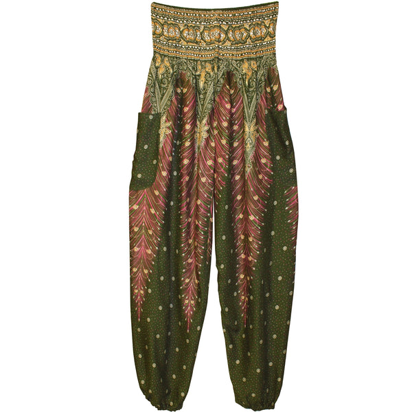 Jeannie Olive Peacock Pants