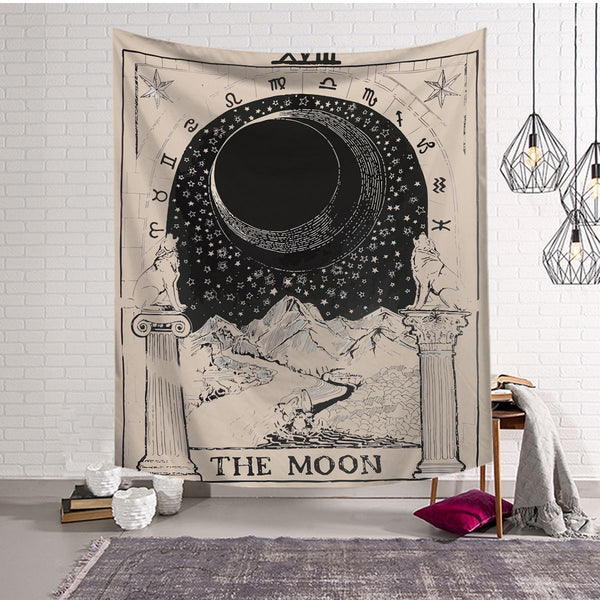 Tarot - The Moon Tapestry / Altar Cloth