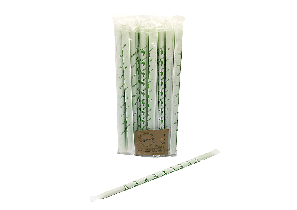 Bio Straw Individually Wrapped X 50
