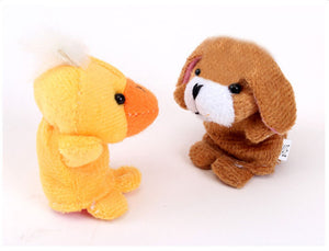 10pcs Animal Finger Puppet Plush Toys