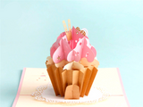 "Party ""Cup Cake"" Pop Up Card"