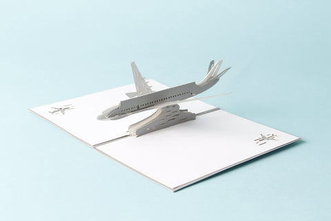 """Vintage Plane"" Pop Up Card"