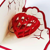 """Heart in Hands"" Pop Up Card"