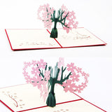"""Cherry Tree"" Popup Card"