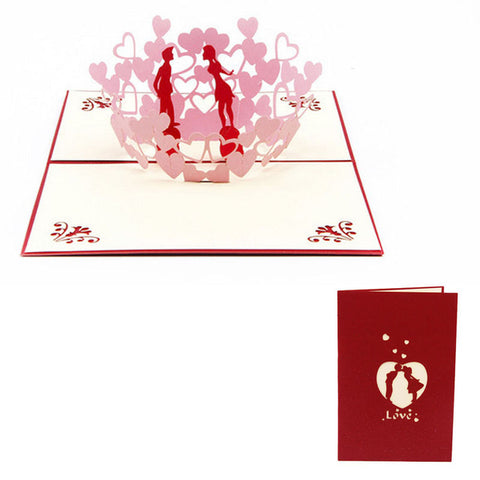 """Loving Couple"" Popup Card"