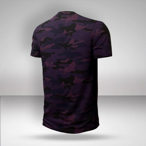 KKR Camo T-Shirt with Faux Leather Detailling