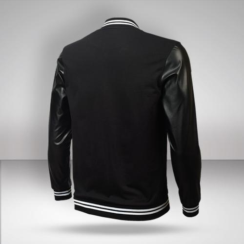 KKR Varsity Jacket with Faux Leather Sleeves
