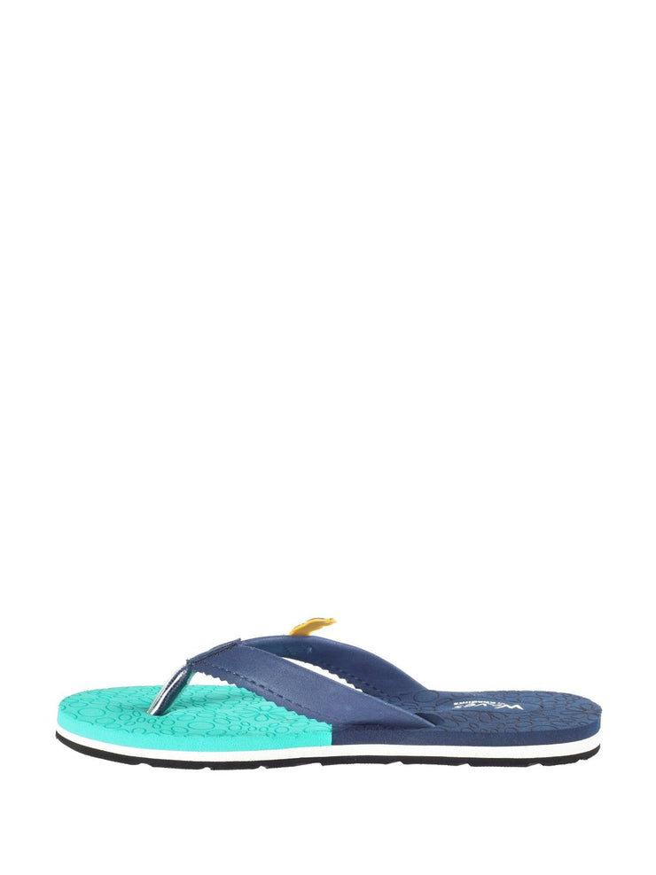 Khadims Waves Kolkata Knight Riders Women Navy Casual Outdoor Slipper