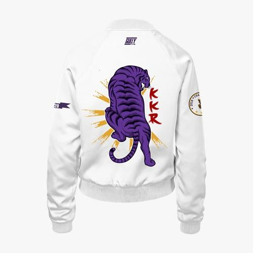 Women's KKR Official 2020 Bomber Jacket White