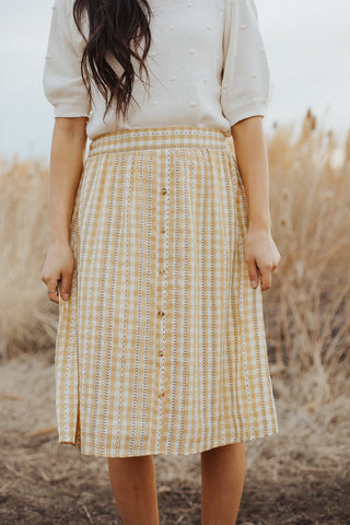 Daisy Gingham Skirt