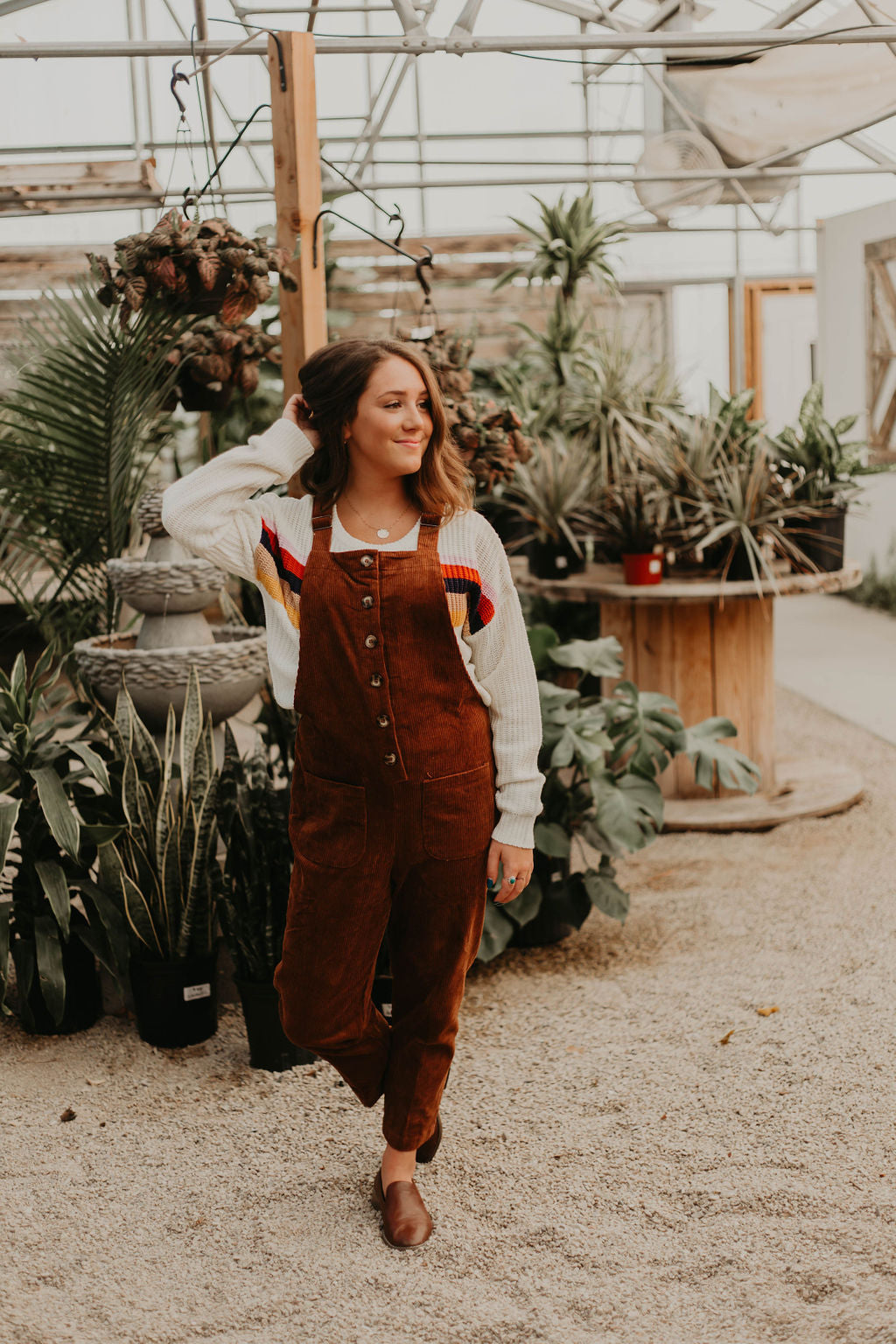 Callie Corduroy Overall (Brown)