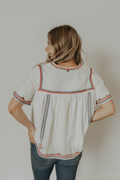 Vallarta Embroidered Top