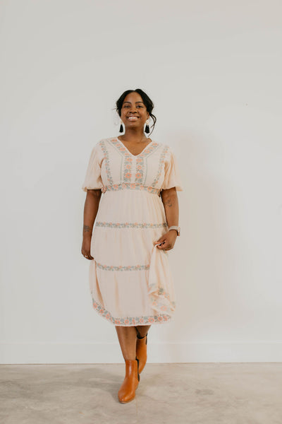 Maloree Embroidered Dress