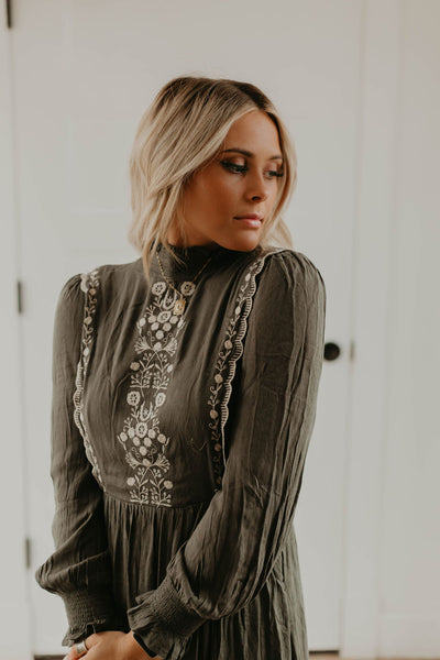 Emery Embroidered Dress