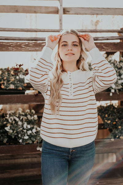 Collin Striped Sweater (Mustard)