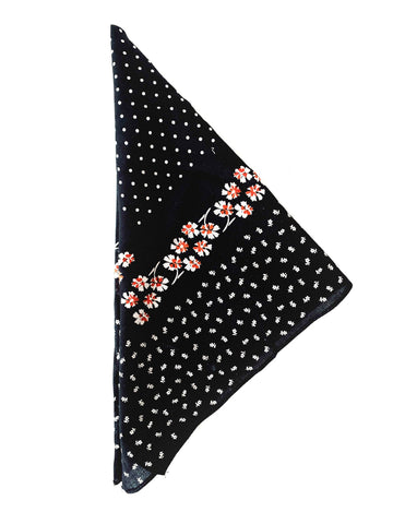 Fall Florals Bandana (Black)