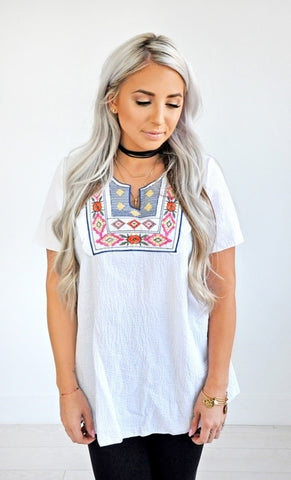 Avery Embroidered Top