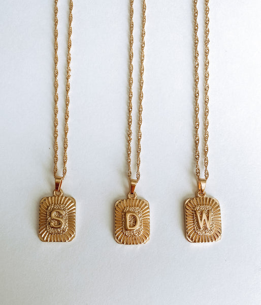 Vintage Initial Necklace