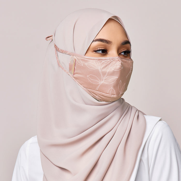 REUSABLE FACE MASK IN APRICOT