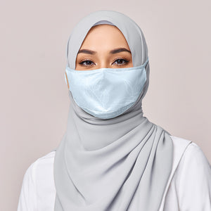 REUSABLE FACE MASK IN COOL SILVER