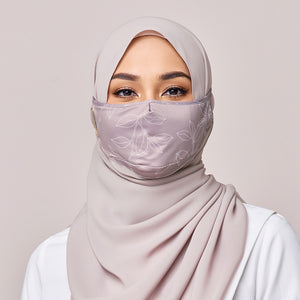 REUSABLE FACE MASK IN LIGHT MAUVE