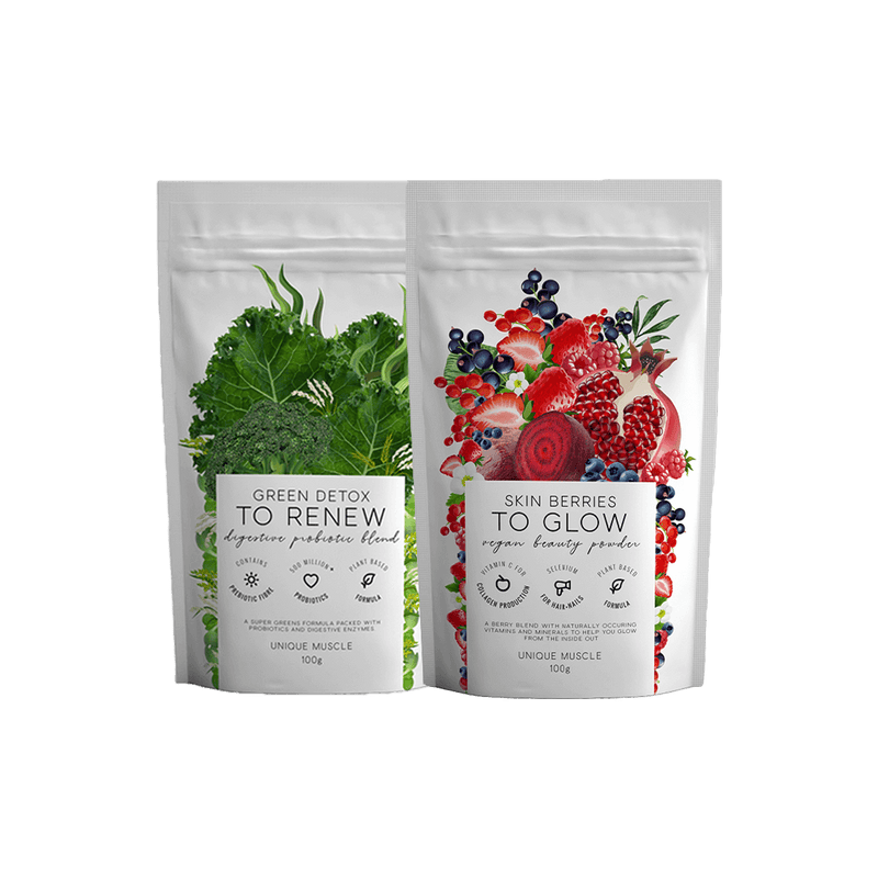 Green Detox & Skin Berries Wellness Pack - Unique Muscle