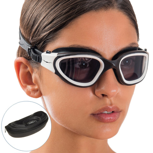 Wide View Swim Goggles + Exclusive Design Case by AqtivAqua