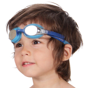 "Kids Swimming Goggles (Age 2-12) ""Rainbow"" by AqtivAqua"