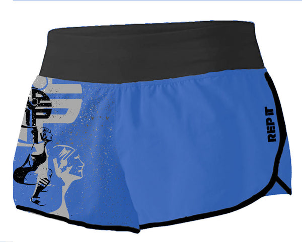 Rep It Ladies Royal Fight Shorts