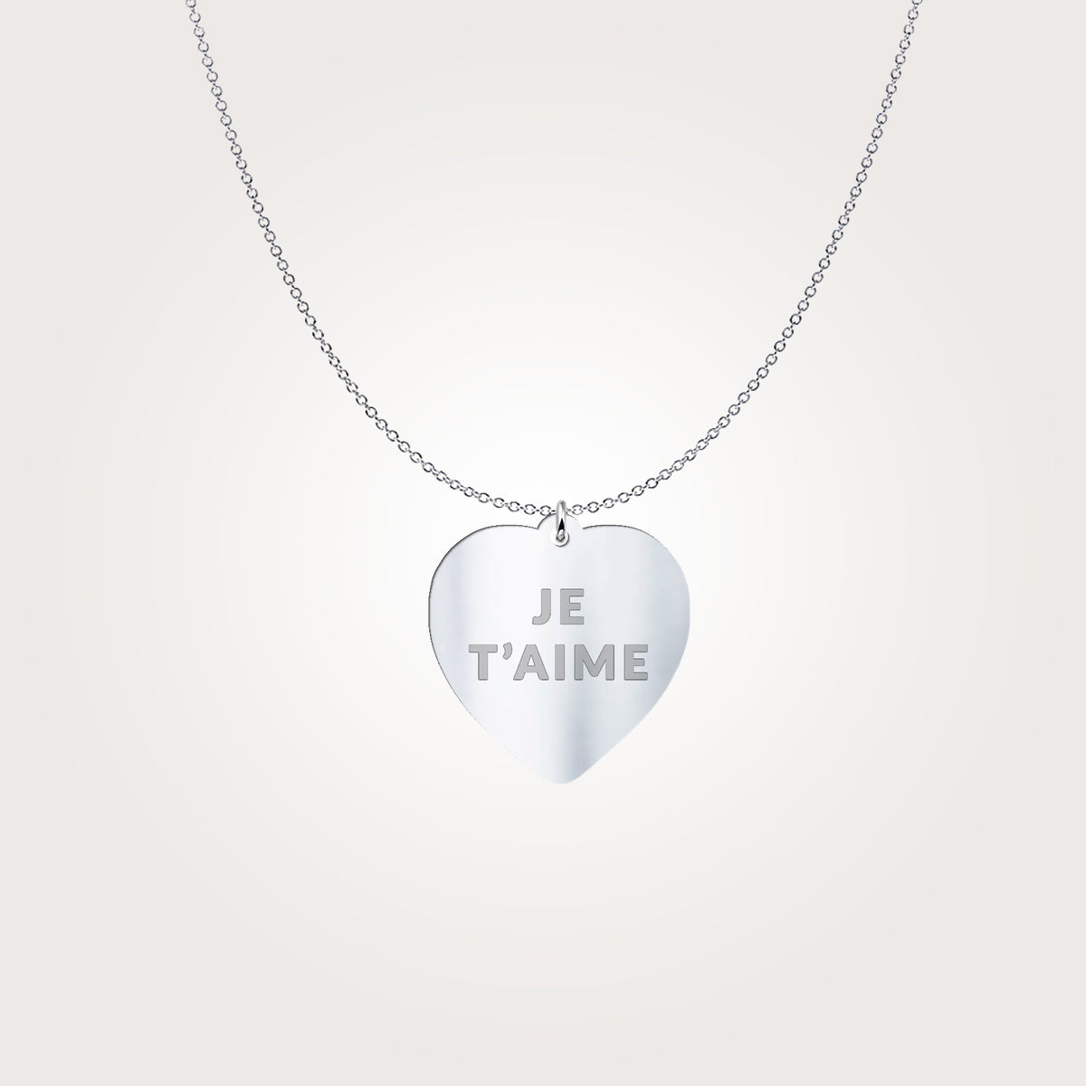 Je T'aime Conversation Heart Necklace by ALLEZ ELIZABETH