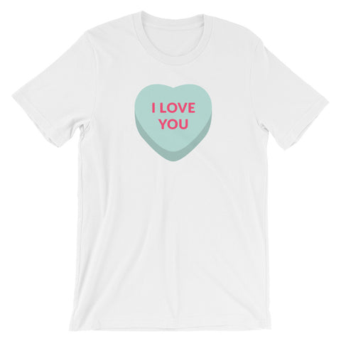I Love You Conversation Heart Tee by ALLEZ ELIZABETH