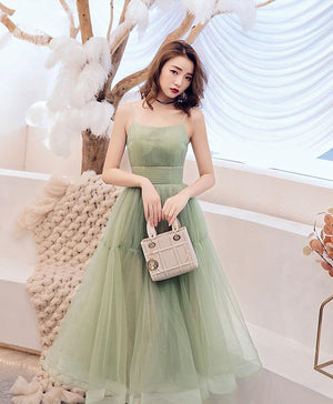 Simple Green Tulle Short Prom Dress Green Tulle Homecoming Dress