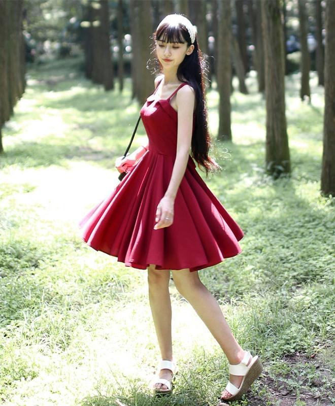 Sweet Burgundy Short Prom Dress, Cute Homecoming Dress