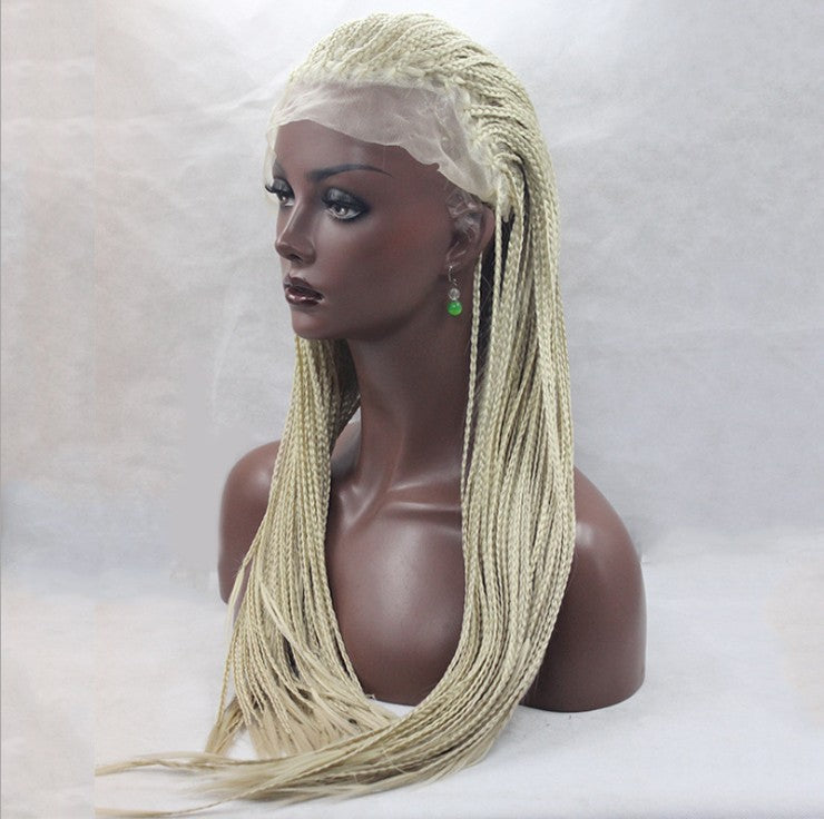 "Synthetic Blonde Braided Wig From 14"" To 26"" - DelaFur Wholesale"