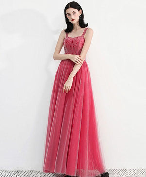 Sweetheart Neck Tulle Long Prom Dress, Tulle Evening Dress