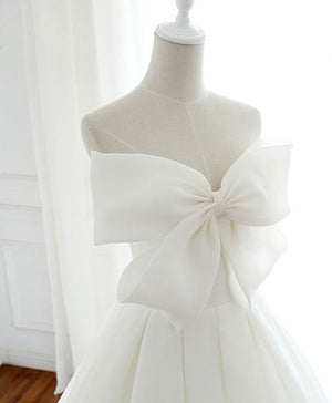 White Sweetheart  Long Prom Dress, White Formal Dress