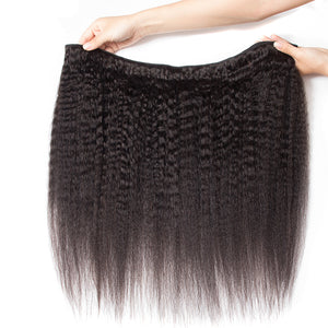 9A Kinky Straight  Human Hair Bundle - DelaFur Wholesale